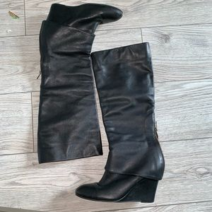 Steven by Steve Madden Maryn tall wedge boots